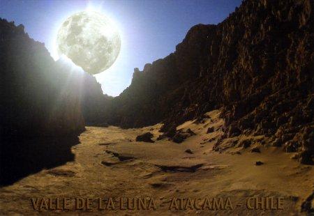 Valle de la Luna postcard